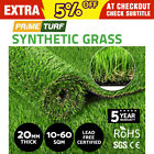 10-60 SQM Artificial Grass Synthetic Turf Plastic Plant Fake Lawn Flooring 20mm