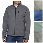 KS Men's Soft-shell Jacket Water-resistant Windproof Brushed MicroFleece H222