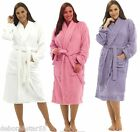 Ladies Pure 100% Cotton Towelling Luxury Dressing Gown Bath Robe Wrap S M L