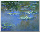 Claude Monet Water Lilies Painting Reproduction Stretched Canvas Fine Art Print