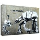DOLK I AM YOUR FATHER CANVAS | LARGE WALL ART | wars graffiti star at-at walker