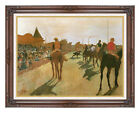 Racehorses Before the Stands by Edgar Degas Horse Racing Repro Framed Art Print