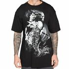 Sullen Pin Up Street Gothic Devil Rockabilly Tattoo Skulls Mens Tee RESURRECTION