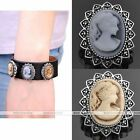 Vintage Lady Beauty Cameo Princess Snap Click Button Bead Charm For Jewelry DIY