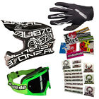 ONEAL Motocross Helm 3series Race black Brille Handschuhe Stickersets MX-Bude