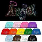 Technicolor Angel Rhinestone Dog Shirt Pet Puppy Clothes Apparel Funny Tee BLING