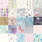 FAIRY DUST GLITTER & WOODLAND FAIRIES WALLPAPER IN PINK & WHITE KIDS BEDROOM NEW