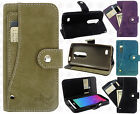 For Cricket LG Risio Premium Slide Out Pocket Wallet Case Pouch Cover