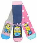 Ladies Despicable Me Minion Socks Size 4-8 shoe Three Pack Two Styles To Choose