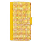 For Cricket LG Risio Premium Bling Diamond Wallet Case Pouch Phone Cover