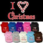 I Heart Christmas Screen Print Christmas Dog Hoodie Pet Puppy Present for Dogs