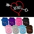 XOXO Screen Print Valentines Day Dog Hoodie Pet Puppy Designer Funny Clothes