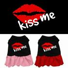 Kiss Me Rhinestone Dog Dress Valentines Day Puppy Clothes Apparel