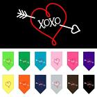 XOXO Screen Print Dog Bandana Valentines Day Dog Collar Present Puppy Love