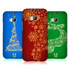 HEAD CASE DESIGNS SNOWFLAKES ART HARD BACK CASE FOR HTC ONE M8