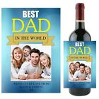 Personalised Best DAD Wine Champagne Bottle Label N82 - Fathers Day Gift Idea