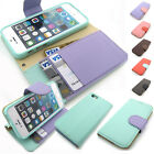 Pastel diary Card Slot Leather Wallet Case Cover Jelly Case For iPhone Galaxy LG
