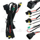 HID Xenon Relay Wire Conversion Light Wiring Harness 9006 9005 H1/3 H7 H8 H9 H11