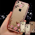 Clear Bling Crystal Soft TPU Silicone Case Cover For Apple iPhone SE 6 6S 7 Plus