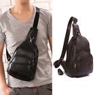 Fashion Men's Real Leather Chest Packs Messenger Shoulder bags Casual Backpacks