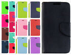 For LG Sunset L33L Premium Leather 2 Tone Wallet Case Pouch Flip Cover Accessory