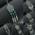 New Fashion Women Feather Tassel Bib Pendant Turquoise Necklace Jewelry Lady