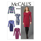 McCall's 7243 Sewing Pattern to MAKE Misses Stretch Crossover Top & Dress