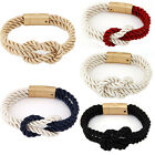 Hot Sale Beauty Women Magnetic Double Woven Cuff Bangle Charm Rope Bracelet