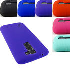 FOR LG PHONES TRIBUTE 5 K7 K10 SOFT SILICONE RUBBER GEL SKIN CASE COVER+STYLUS