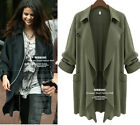 2016 lady  Long Coat Jacket Trench Windbreaker Parka Outwear Cardigan plus size