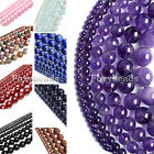 2-16mm Amethyst Quartz Agate Gems Round Loose Beads for Necklace Bracelet DIY fb