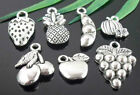 Free Ship wholesale lots Tibetan Silver Fruit Charms Lead-Free Optional
