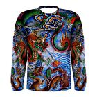 """Chinese Dragon Long Sleeve T-Shirt Dragons Gate """"Success from Hard Work"""""""