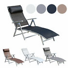 outdoor pool lounge chairs - Chaise Lounge Chair Folding Pool Beach Yard Adjustable Patio Furniture Recliner