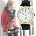 Moda le Donne Di Ginevra Di Strass Band Quarzo Orologio Da Polso Women Watch HOT