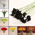 10pcs Latex Calla Lily Flowers DIY Bridal Bouquets Wedding Home Decor Reuseable