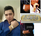 ELVIS SIGNATURE ID BRACELET GOLD PLATTED WITH CZ AND PLAIN