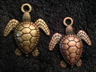 Turtle charms, mixed metal