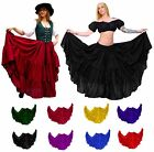 BELLY DANCE RENAISSANCE WENCH COSTUME DRESS-UP TRIBAL PIRATE GYPSY RUFFLE SKIRT