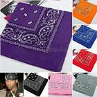 Cotton Head Wrap Paisley Bandana Neck Scarf Wristband Handkerchief DJNG