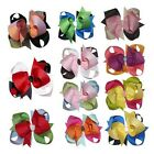 """Baby Toddler Gril 4"""" Three Tone Grosgrain Handmade Hair bow Clip 11pcs Mix Color"""