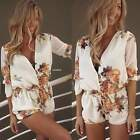 New Ladies Clubwear V-Neck Playsuit Bodycon Party Jumpsuit Women Romper Trousers