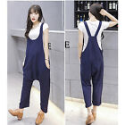 New Fashion Women Summer Suspender Trousers Loose Overalls Harem Pants Jumpsuits