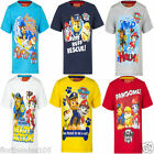 Boys Paw Patrol T-Shirt Top Summer Red Grey White Blue Yellow  Age 3 4 5 6