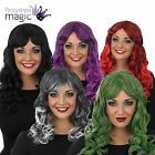 *LADIES LONG CURLY FRINGE TEMPTRESS WIG HALLOWEEN FANCY DRESS COSTUME ACCESSORY*
