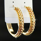 New Fashion Big Mix Silver Gold Chains Hoop Earrings For Women Party Jewelry