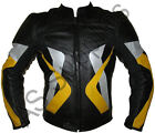 """HEX"" New Armoured Leather Biker Motorcycle Jacket - Striking Design - All sizes"