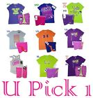 Under Armour Nike Shirt Shorts Set Youth Girls Athletic Sports 2 pc Outfit Teens