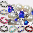 Womens Colorful Faceted Rhinestone Crystal Glass Beads Bracelet Bangle Jewelry