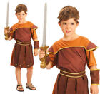Childrens Roman Soldier Fancy Dress Costume Gladiator Outfit Childs 3-13 Yrs